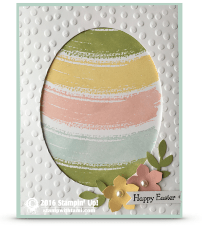 stampin up work of art easter egg eindow card