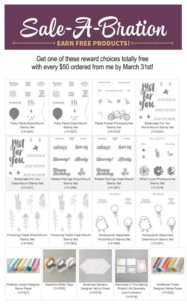 sale a bration whats left stampin up