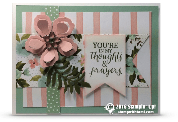 stampin up garden blooms card