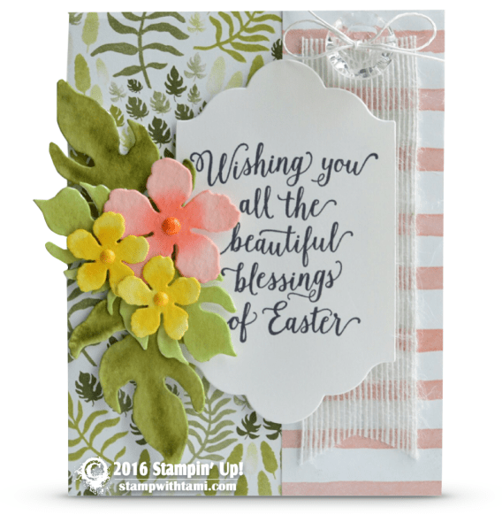 stampin up suite sayings easter card