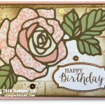 "CARD: Rose Wonder ""Stained Glass"" Birthday Beauty Wow Card"