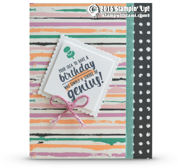 stampin up painters palette card 1