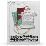 CARD: Retiring Tap Tap Tap Typewriter Card