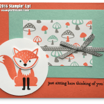 CARD: Foxy Friends Thinking of You Card