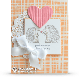 stampin up love you lots hedgehogs