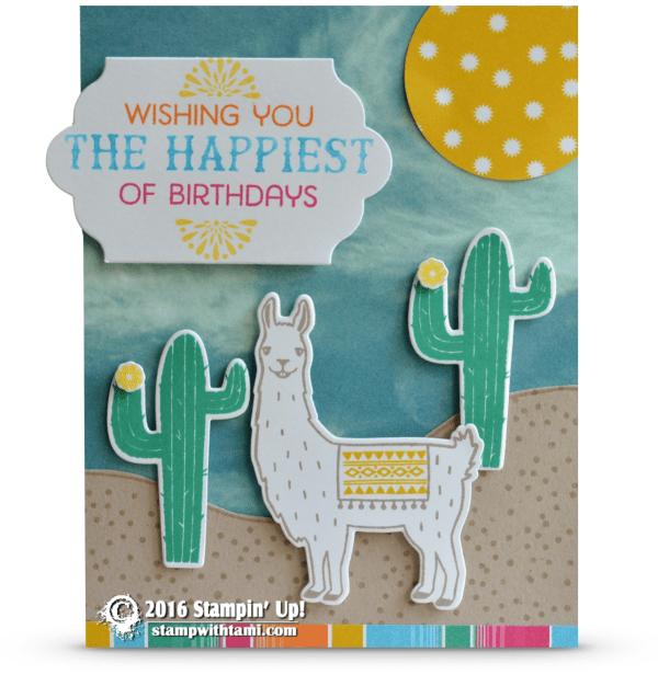 stampin up birthday fiesta llama 2