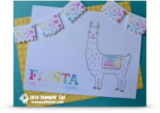 stampin up llama festive birthday