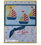 stampin up swirly scribbles boat