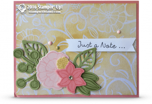 stampin up falling flowers better together