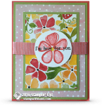stampin up fresh fruit card