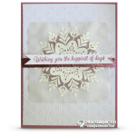 CARD: Wishing you the happiest from Frosted Medallions