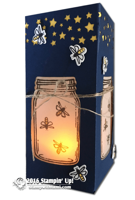 stampoin up jar of love luminary box