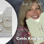BLOG HOP & GIVEAWAY: How to make a Cable Knit Sweater Card