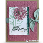 CARD: Sympathy Card from the Flourishing Phrases stamps