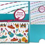 """CARD: Fun Birthday Fiesta """"Drop Fold"""" card"""