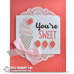 SNEAK PEEK: Cool Treats Strawberry Ice Cream Cone Card