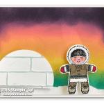 VIDEO: How to make a beautiful Northern Lights Alaskan Eskimo Card