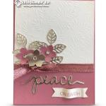 VIDEO: How to make a Sweet Sugarplum silver Peace on Earth Card