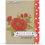 CARD: Love You So Much from the Birthday Blooms Stamps