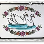 CARD: Beautiful Swan Card from the Swan Lake set