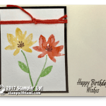 CARD: Happy birthday wishes from the Avant Garden Sale-a-bration set