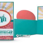 CARD: Carousel Birthday fancy fold WOW card