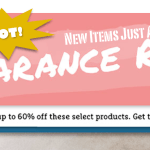 SALE! Up to 60% OFF New Specials in my Clearance Rack – while supplies last