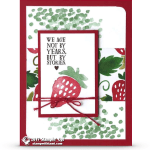 CARD: Strawberry Birthday Card from the Retiring Fresh Fruit Set