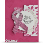 CARD: Send Love & Hugs from the Ribbon of Courage Card