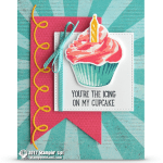 CARD: You're the icing on my cupcake from the Sweet Cupcake Stamps