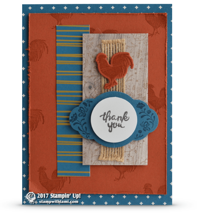 Stampin Up Wood Words rooster