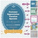 SPECIALS: Tami's Customer Appreciation Mega Vacation Specials – July 1-15