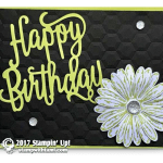 CARD: Stunning Happy Birthday Daisy Card from the Delightful Daisy Bundle
