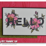 CARD: Fabulous Hello Card from the Floral Statements
