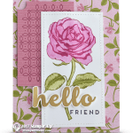 CARD: Hello Friend Card from the Graceful Garden Rose Stamp Set