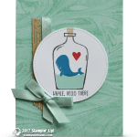 CARD: Whale Hello There Message in a Bottle Card