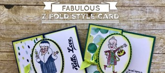 ONLINE CLASS & VIDEO:  How to make a Fabulous Z-Fold Style Card