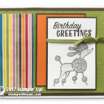 CARD: Birthday Greetings Poodle Card