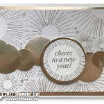 CARD: New Years Card from Cheers to the Year Stamp Part 2 of 2