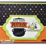 CARD: Pick Your Potion Spooky Cat Halloween Card