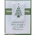 CARD:Tree Card from the Christmas Quilt Bundle Series Part 3 of 4