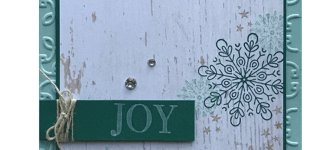 CARD: Joy Card from the Season of Cheer Stamps