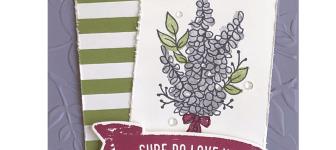 SNEAK PEEK: Lots of Lavender Love Card from Sale-a-Bration