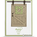 CARD: Happy to Know You Card from Barn Door Bundle Series – Part 4