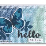 CARD:  Hello Friend Card from the Watercolor Wings Stamp Set