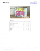 STAMPIN SCOOP 50 CARD