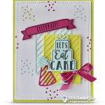 RETIRING: Let's Eat Cake Card from Celebration Time Stamps