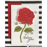 CARD:  Beautiful I Adore You Card from the Graceful Garden Stamps