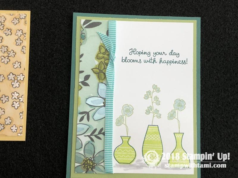 Sneak Peek Hello Floral Vase Card From The Varied Vases Bundle Stampin Up Demonstrator Tami