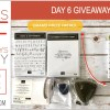 DAY 6 of 8 Days of Giveaways in May – 2 prizes a day, entry and details here